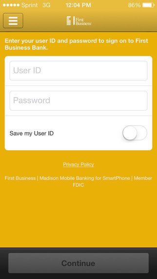 Madison Mobile Banking for iPhone