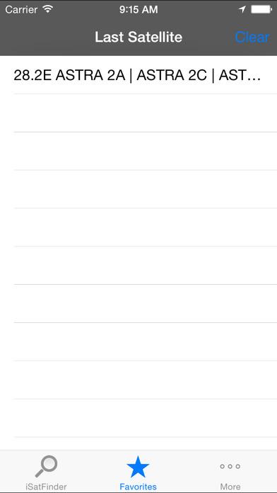 iSatFinder iPhone Screenshot 2