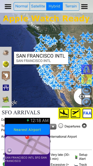 FAA Airport Status Flight Schedule - Live Street Map View and Road Trip Finder