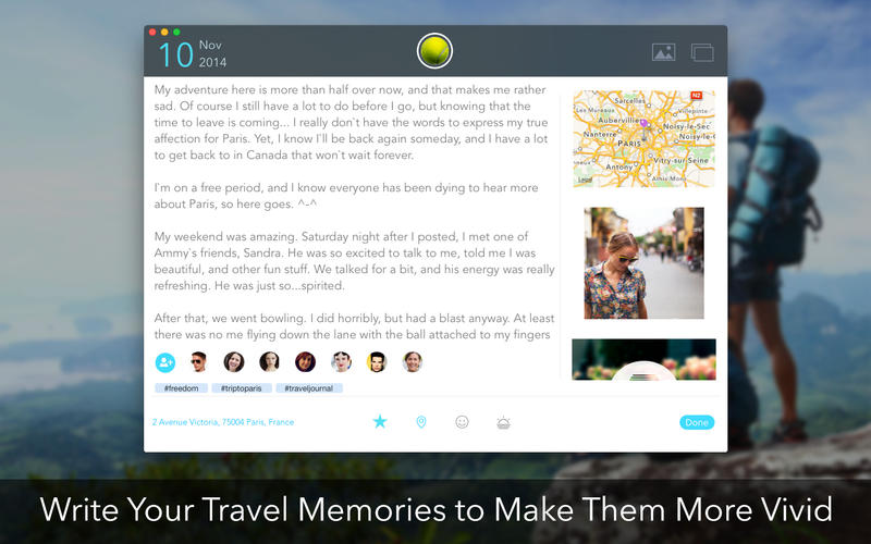 Travel Journal Screenshot - 1