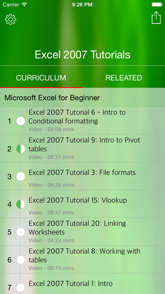 Full Course for Microsoft Excel 2007 in HD