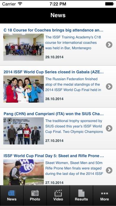 ISSF Shooting Sports iPhone Screenshot 1