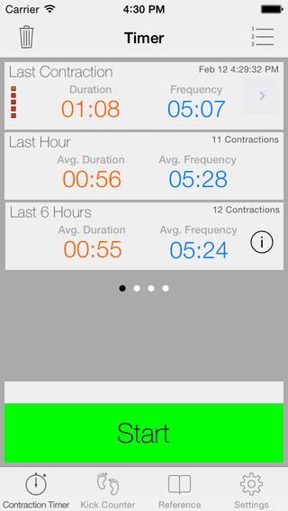 Full Term - Labor Contraction Timer Pregnancy Reference Kick Counter