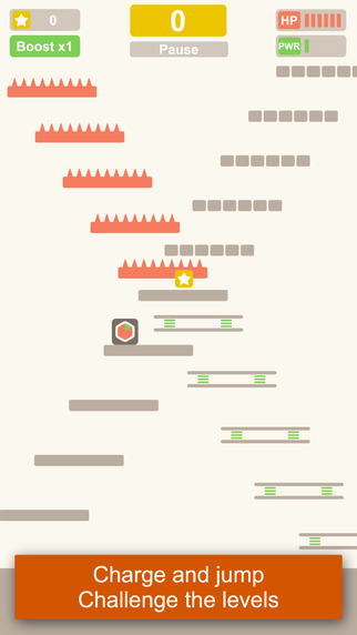 Little Bouncing Box jumps up a 2048 minimalistic adventure world