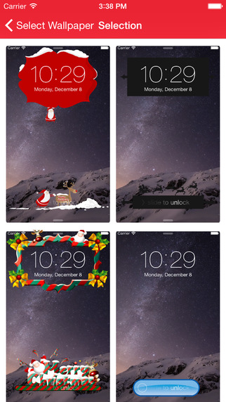 Christmas Locker - Xmas 2014 New Year 2015 - Create Beautiful HD Lock Screen Wallpaper