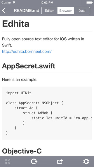 Edhita: Open source text editor Screenshots