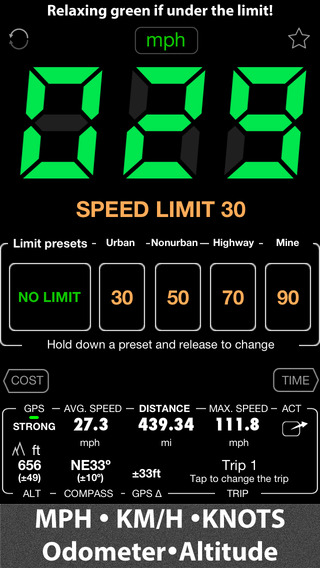 Speedometer - Free - Speed Limit Alert with Map HUD and GPS Black Box Recorder