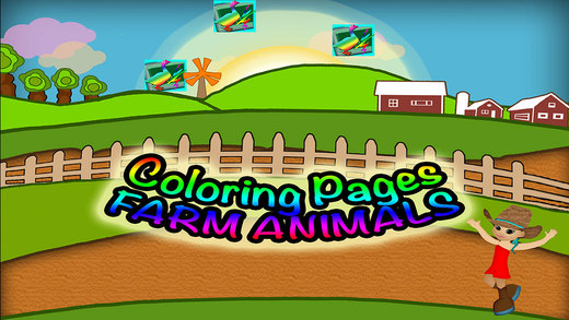 Animals Coloring Pages Preschool Learning Farm Experience Game