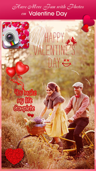 Valentine Photo Fun Free - Lovely Frames Photo sticker Pics effect for Valentine's Day