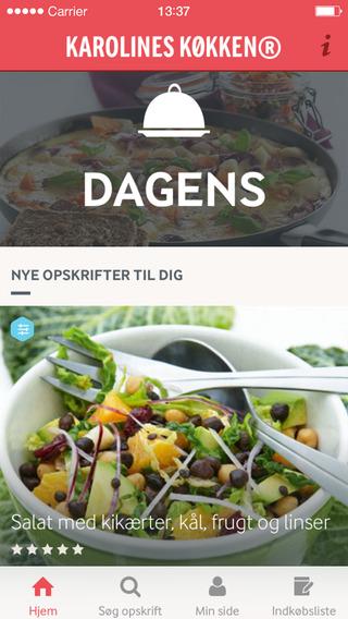 Karolines Køkken® - Opskrifter aftensmad forretter og desserter. Personlig indkøbsliste og madplan.