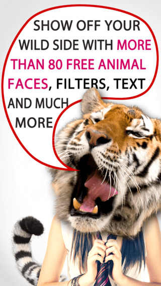 My Animal Face Blender – Show off your wild side by adding animal faces and tails to your pictures p