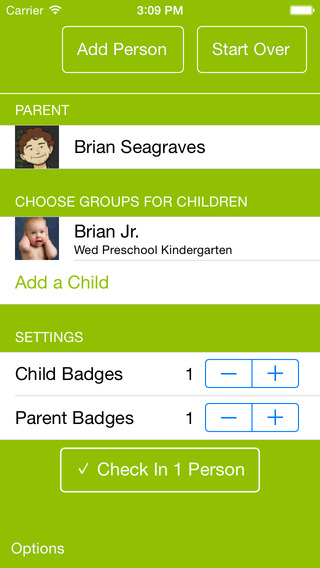 SimpleChurch Child Check-in