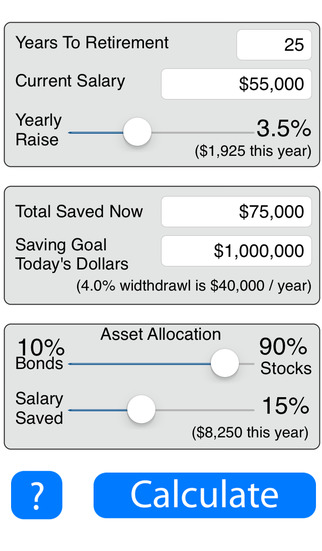 Retirement Savings Calculator Lite
