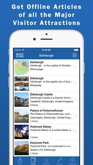 Edinburgh Travel Guide Offline Map