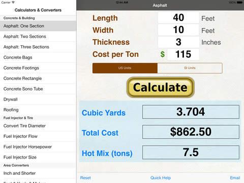 Fuel Injector Calculators iPad Screenshot 1