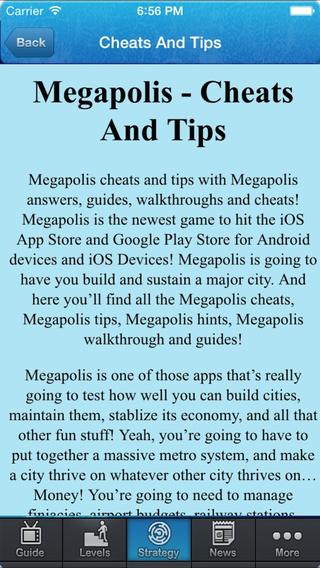 Guide for Megapolis - Tips Guide Video News