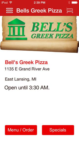 Bell's Greek Pizza