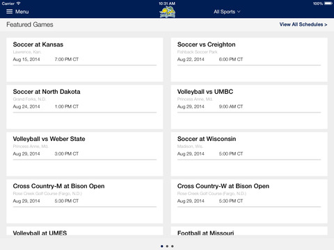 South Dakota State Jackrabbits for iPad 2014