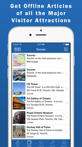Toronto Travel Guide Offline Map