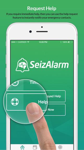 SeizAlarm: Seizure Help Request Service Logging