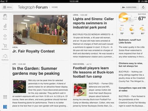 Bucyrus Telegraph Forum for iPad