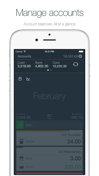 Money - Track your money easily. Screenshots