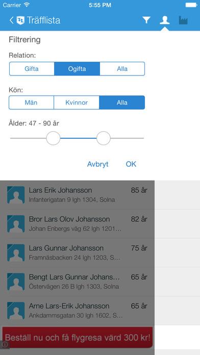 ratsit.se iPhone Screenshot 3