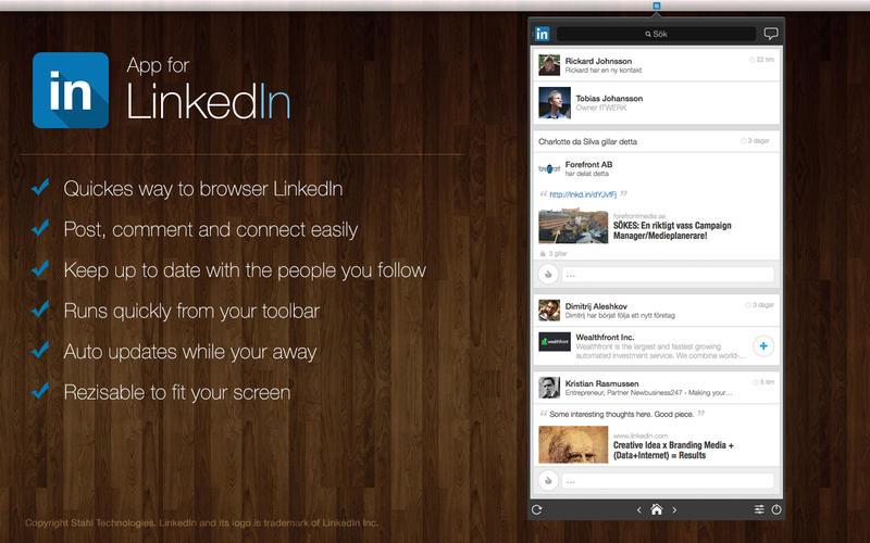 App for LinkedIn Screenshot - 1
