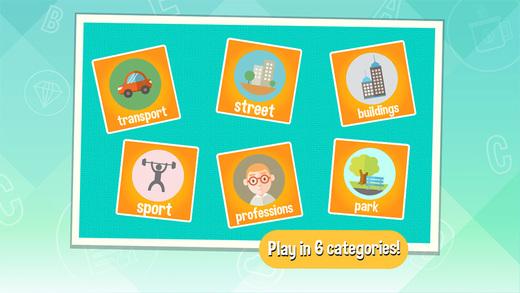 Word Catcher: City - Kids Game