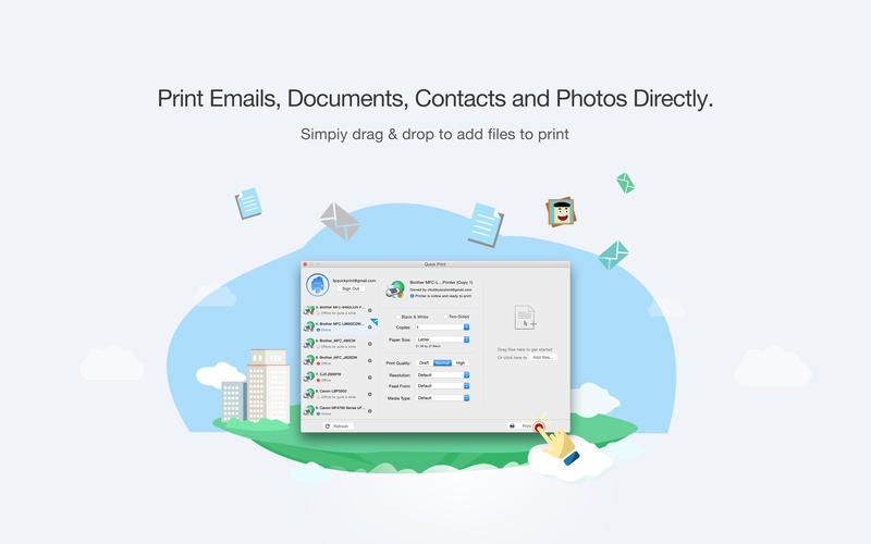 Quick Print Lite via Google Cloud Print Screenshot - 2