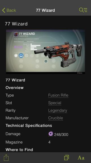Wikia: Destiny Fan App
