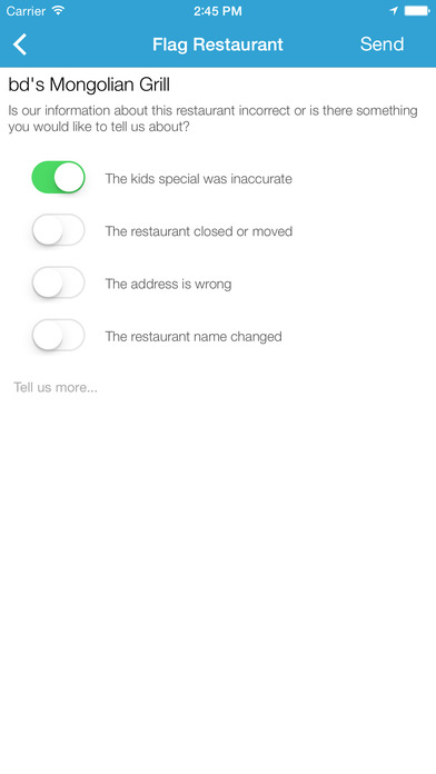 Kids Eat Free - Restaurant Finder screenshot