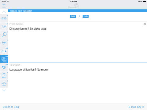 Turkish English Dictionary & Translator iPad Screenshot 3