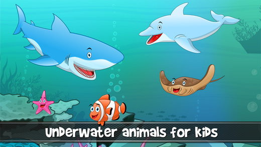 Peekaboo animals in the sea ocean lake and river for toddlers and babies