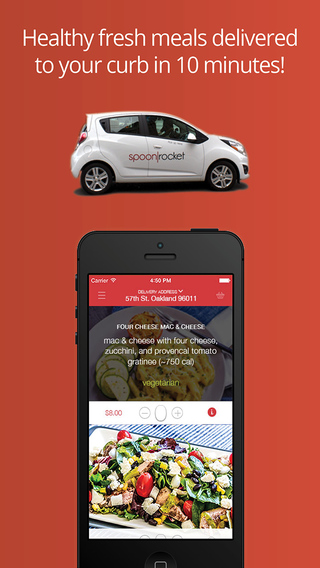 SpoonRocket - Food Ordering and Delivery Service for Lunch Dinner in San Francisco Berkeley and Oakl