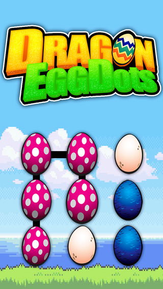 Match the Dragon Egg Dots game : connect create long link