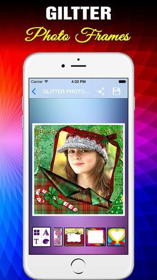 Glitter Photo Frames HD