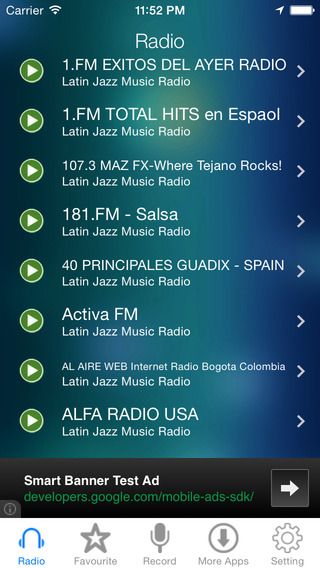 Latin Jazz Music Radio Recorder