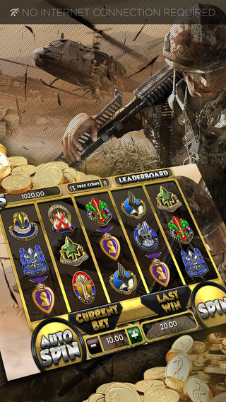 Anonymous Soldier Slots Machines - FREE Gambling World Series Tournament