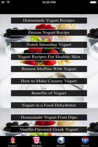 Yogurt Recipes - Food Dehydrator screenshot 1