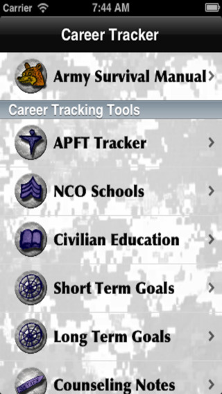 Soldier Career Tracker