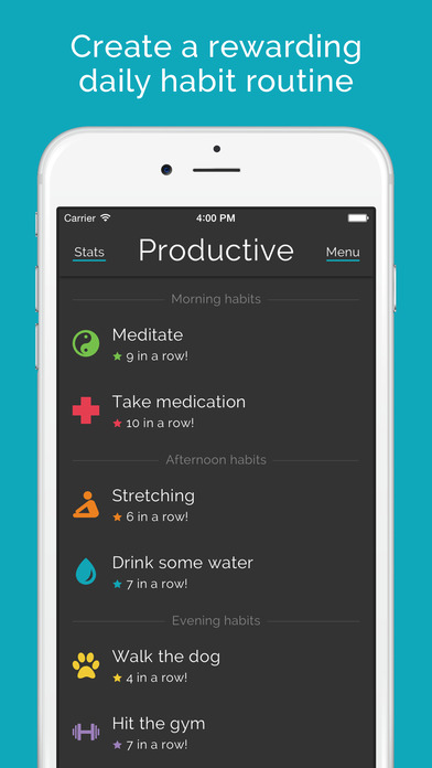 Productive - Habit tracker - Daily routine & reminders for goals & resolutions screenshot