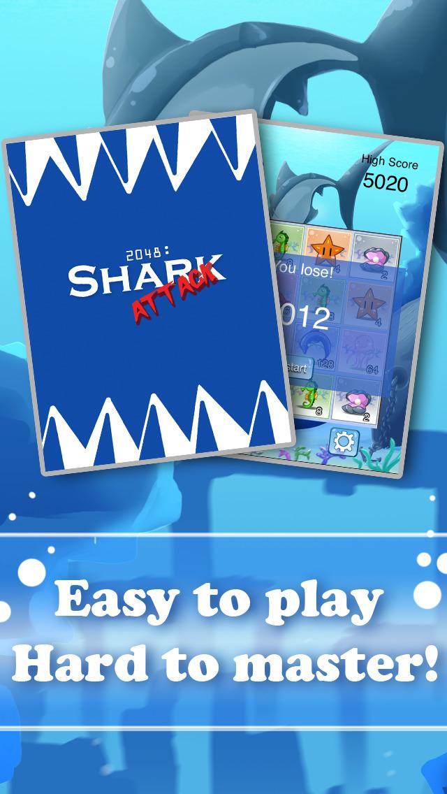 2048 Shark Attack PRO