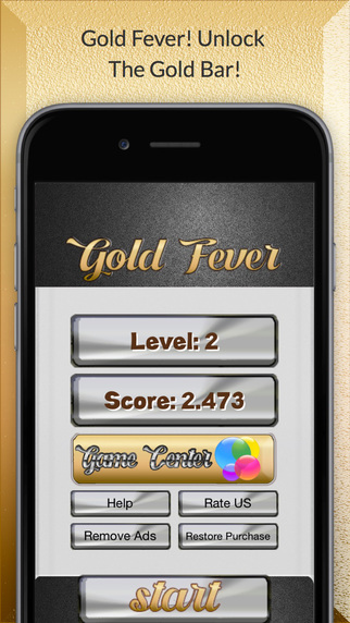 Gold fever - Unlock the gold bar