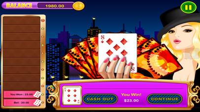 Screenshot 4 Все в джевел Win Лаки Джекпот High-Low (угадать следующую карту) Казино тире Игры Pro