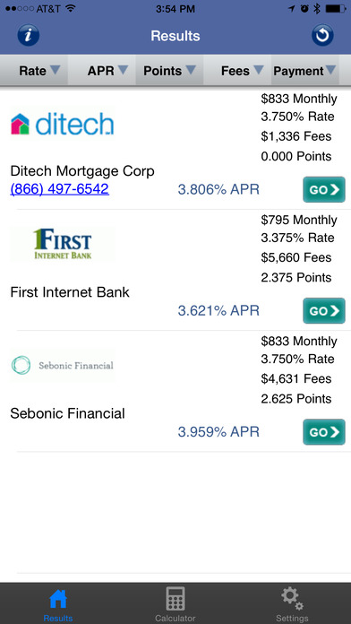 Mortgage Rates & Credit Card Rates iPhone Screenshot 1