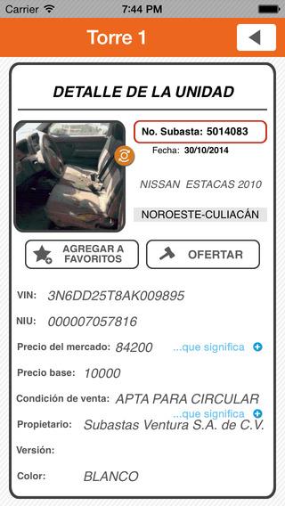 Subastas Ventura iPhone Screenshot 5