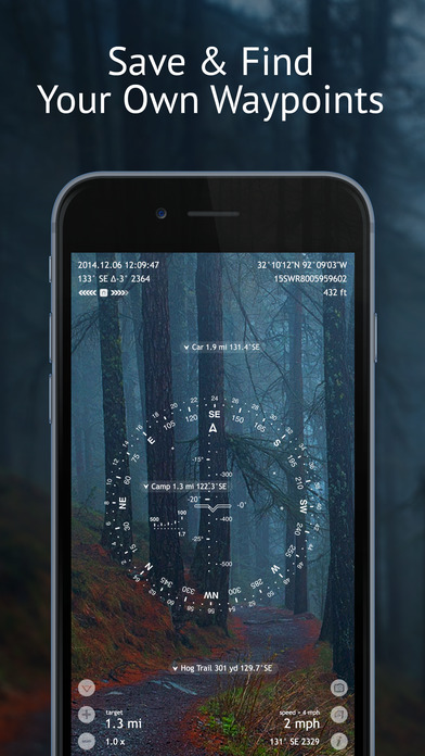 Spyglass ~ AR tracker, compass, sextant, rangefinder, gps, maps, stars iPhone Screenshot 3