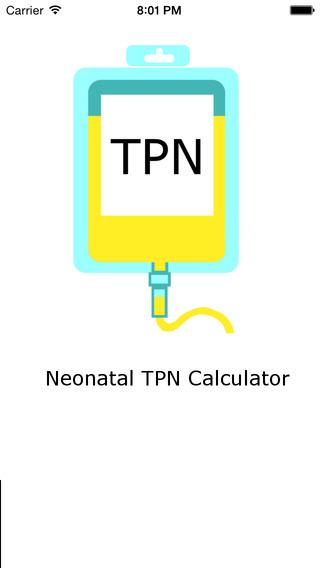 Neonatal TPN Calculator