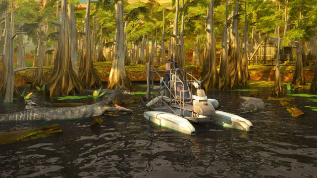 3D Swamp Boat Simulator - eXtreme Driving and Parking Real Simulation Games